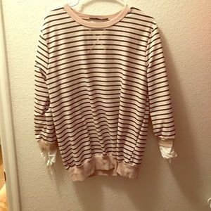 Sweaters - Striped Sweater Tie Sleeves